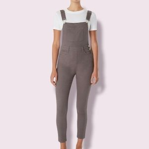 NWT WeWoreWhat Grey Highrise Overalls
